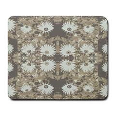 Vintage Daisy Floral Pattern Large Mousepads by dflcprints