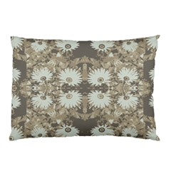 Vintage Daisy Floral Pattern Pillow Case by dflcprints