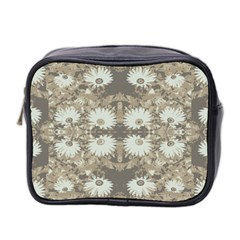Vintage Daisy Floral Pattern Mini Toiletries Bag 2 Side by dflcprints