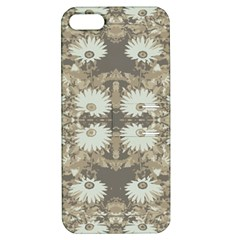Vintage Daisy Floral Pattern Apple Iphone 5 Hardshell Case With Stand by dflcprints