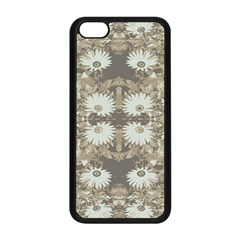 Vintage Daisy Floral Pattern Apple Iphone 5c Seamless Case (black) by dflcprints