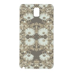 Vintage Daisy Floral Pattern Samsung Galaxy Note 3 N9005 Hardshell Back Case by dflcprints