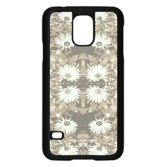 Vintage Daisy Floral Pattern Samsung Galaxy S5 Case (black) by dflcprints