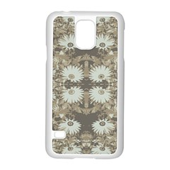 Vintage Daisy Floral Pattern Samsung Galaxy S5 Case (white) by dflcprints