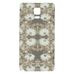 Vintage Daisy Floral Pattern Galaxy Note 4 Back Case by dflcprints