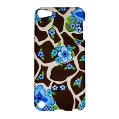 Floral Giraffe Print Apple Ipod Touch 5 Hardshell Case by dawnsiegler