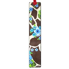 Floral Giraffe Print Large Book Marks by dawnsiegler