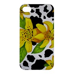 Floral Cow Print Apple Iphone 4/4s Hardshell Case