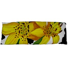 Floral Cow Print Body Pillow Case Dakimakura (two Sides) by dawnsiegler