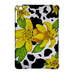 Floral Cow Print Apple Ipad Mini Hardshell Case (compatible With Smart Cover) by dawnsiegler