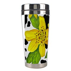 Floral Cow Print Stainless Steel Travel Tumblers