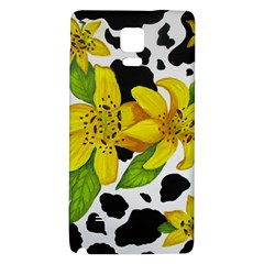 Floral Cow Print Galaxy Note 4 Back Case by dawnsiegler