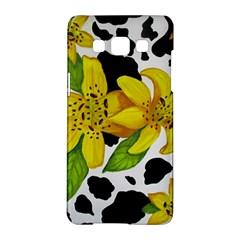 Floral Cow Print Samsung Galaxy A5 Hardshell Case  by dawnsiegler