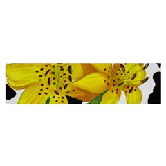 Floral Cow Print Satin Scarf (oblong)