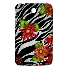 Floral Zebra Print Samsung Galaxy Tab 3 (7 ) P3200 Hardshell Case  by dawnsiegler