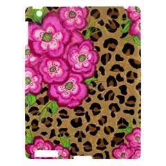 Floral Leopard Print Apple Ipad 3/4 Hardshell Case by dawnsiegler