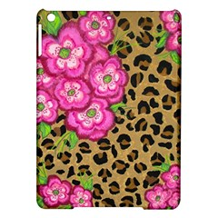 Floral Leopard Print Ipad Air Hardshell Cases by dawnsiegler