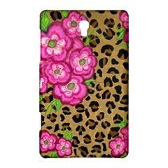 Floral Leopard Print Samsung Galaxy Tab S (8 4 ) Hardshell Case