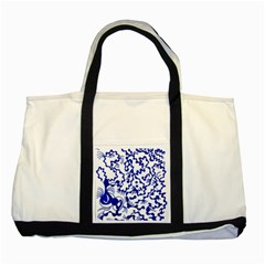Dna Lines Two Tone Tote Bag