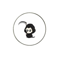 Cute Grim Reaper Hat Clip Ball Marker by Valentinaart