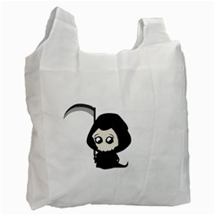 Cute Grim Reaper Recycle Bag (two Side)  by Valentinaart