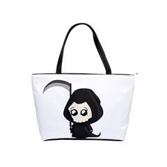 Cute Grim Reaper Shoulder Handbags by Valentinaart