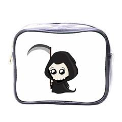 Cute Grim Reaper Mini Toiletries Bags by Valentinaart