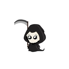 Cute Grim Reaper Shower Curtain 48  X 72  (small)  by Valentinaart