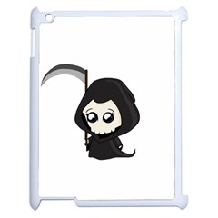 Cute Grim Reaper Apple Ipad 2 Case (white) by Valentinaart