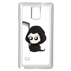 Cute Grim Reaper Samsung Galaxy Note 4 Case (white) by Valentinaart