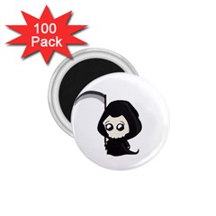 Cute Grim Reaper 1 75  Magnets (100 Pack)  by Valentinaart