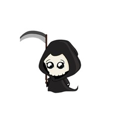 Cute Grim Reaper 5 5  X 8 5  Notebooks by Valentinaart