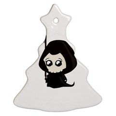 Cute Grim Reaper Christmas Tree Ornament (two Sides) by Valentinaart