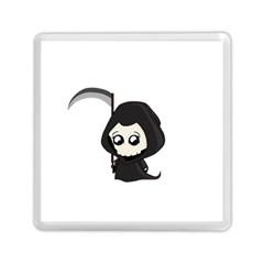 Cute Grim Reaper Memory Card Reader (square)  by Valentinaart