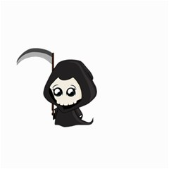 Cute Grim Reaper Small Garden Flag (two Sides) by Valentinaart