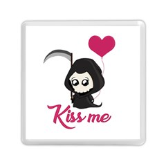 Cute Grim Reaper Memory Card Reader (square)  by Valentinaart