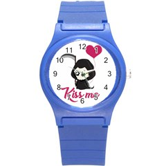 Cute Grim Reaper Round Plastic Sport Watch (s) by Valentinaart