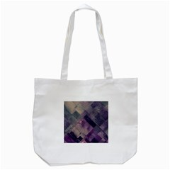 Vintage Style Graphic Print In Blues And Purples Tote Bag (white) by douxsurmoi