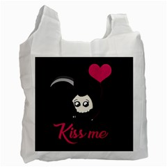 Cute Grim Reaper Recycle Bag (one Side) by Valentinaart