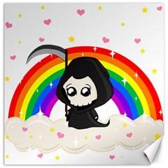 Cute Grim Reaper Canvas 12  X 12   by Valentinaart