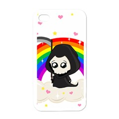Cute Grim Reaper Apple Iphone 4 Case (white) by Valentinaart