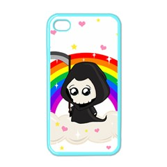 Cute Grim Reaper Apple Iphone 4 Case (color) by Valentinaart