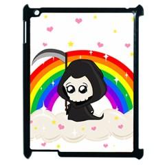 Cute Grim Reaper Apple Ipad 2 Case (black) by Valentinaart