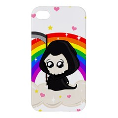 Cute Grim Reaper Apple Iphone 4/4s Premium Hardshell Case by Valentinaart
