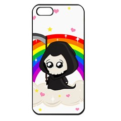 Cute Grim Reaper Apple Iphone 5 Seamless Case (black) by Valentinaart