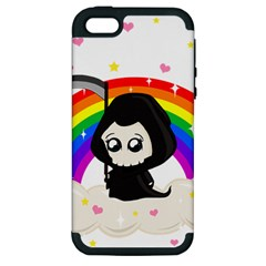 Cute Grim Reaper Apple Iphone 5 Hardshell Case (pc+silicone) by Valentinaart