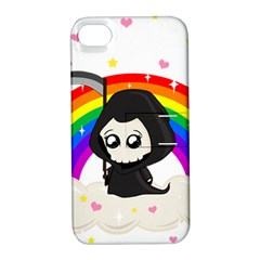 Cute Grim Reaper Apple Iphone 4/4s Hardshell Case With Stand by Valentinaart