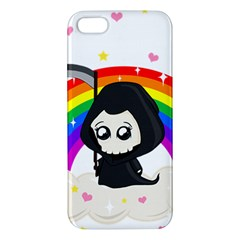 Cute Grim Reaper Apple Iphone 5 Premium Hardshell Case by Valentinaart
