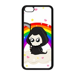 Cute Grim Reaper Apple Iphone 5c Seamless Case (black) by Valentinaart