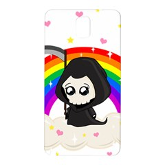 Cute Grim Reaper Samsung Galaxy Note 3 N9005 Hardshell Back Case by Valentinaart